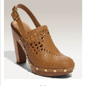 Tory Burch Leather Braided Clogs